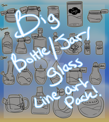 Big Glass Container Pack Vol 1 (P2U) by DalaneyBugg