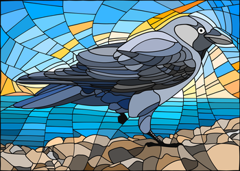 Jackdaw In Glass by Hareguizer