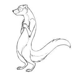 Slinky Ferret by Temiree