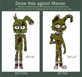 Draw This Again: Springtrap by RoseyOfMoon