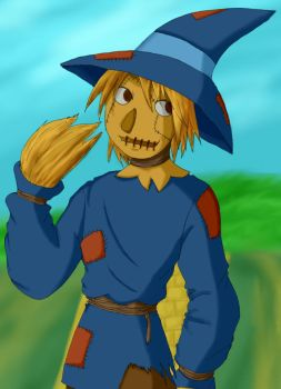 Wise Scarecrow of Oz by demonoflight