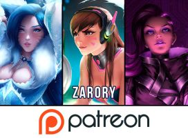 Now On Patreon!! by Zarory