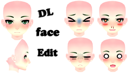 Face Edit Male// Dl // by MosterNighT-MMD by MosterNighT-MMD