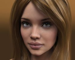 Mikaela (full face view portrait) by Livius70