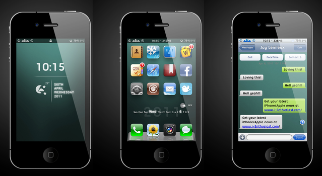 My Current iPhone mTheme by jLemie