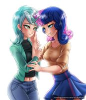 Lyra and BonBon by RacoonKun