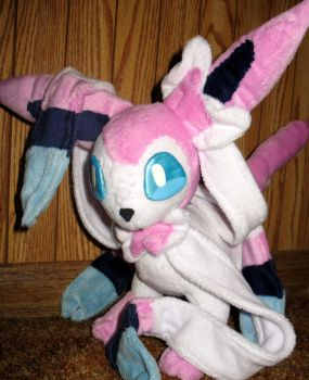 Sylveon Custom Plushie by killingxdance