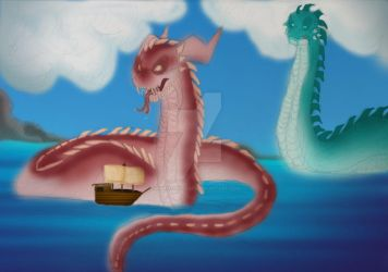 Sea Serpent colour by samanthaxkizzy