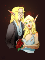 Commission: Maltherion and Kalraeli by Lyubk