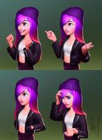 Characters Jennifer Expressions by javieralcalde