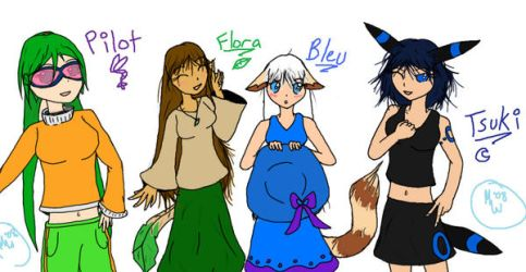 Pokemorph Personas Group Pic by EmotionlessBlue
