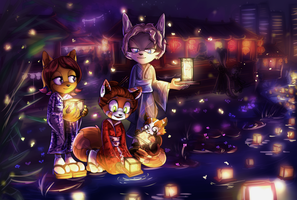Japanese night of lights by lizathehedgehog