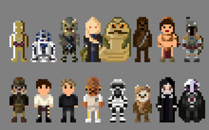 Star Wars Return of the Jedi Characters 8 bit by LustriousCharming