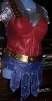 WIP-Ancient Greek Style Wonder Woman Skirt and Top by ParadoxJaneDesigns