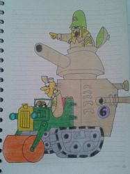 Sergeant Blast and Private Meekly by cavaloalado