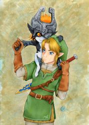 Link and Midna by TalisX