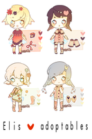 CLOSED (valentine's day) Elis adoptables auction by yaourtie