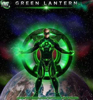Green Lantern Poster Space by Gyaldhart