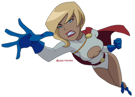 JLU: Power Girl by Glee-chan