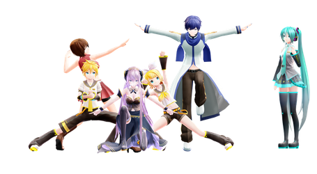 (MMD) Ginyu Force Poses 1 (+Download in Desc.!) by searose04