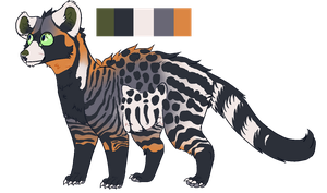 African Civets ADOPT ((CLOSED)) by Abbadoo02
