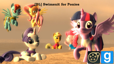 [DL] Swimsuit for Ponies by SdowBurns