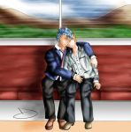Grimmichi Day Contest - on the train by TheBlastvampire