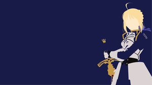 Saber from Fate/Zero | Fate Stay/Night| Minimalist by matsumayu