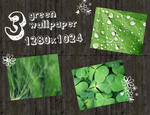 green wallpaper by rainbows-stock