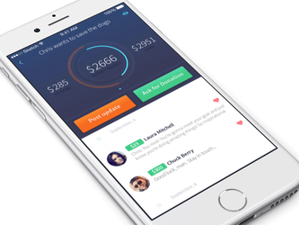 Crowdfunding Application Design by Ramotion