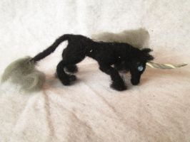Sir Ollson the Needle Felt Tiny Unicorn Doll by RRedolfi