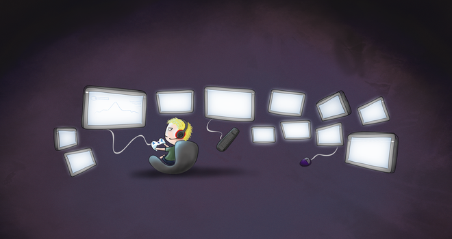 TinyPeople: The Gamer by shortdesigns-x