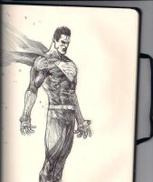 Superman Doodle by mikemaluk