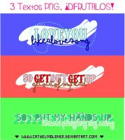 3 textos PNG by CatyElmolover