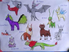 pokemon eeveelutions all types by puticron