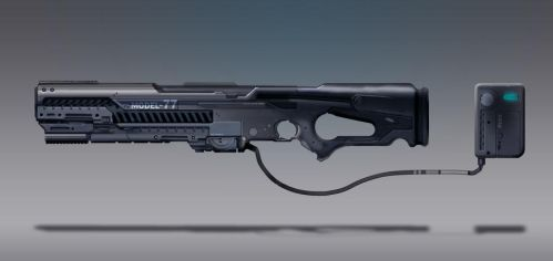 Commission Concept Art - Rail gun/Rail rifle by torvenius