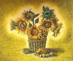 Sunflowers - yellow by diana-0421