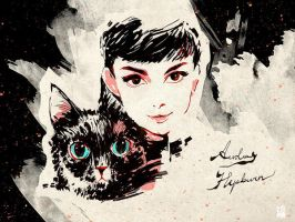 happy birthday to Audrey Hepburn by minayuyu