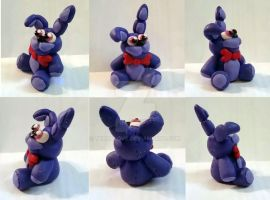 Bonnie the Bunny Plushie miniature multiview by TerraLove