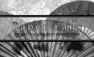 Paper Fans Image Stamps by spiritsighs-stock