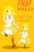 chica the chicken and mini chica by sheillathefox