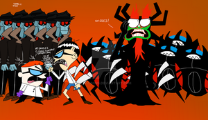 How Did Aku Gets His Robots From by K9X-Toons