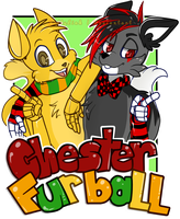 [C] Chester And Furball Badge by JollyLink