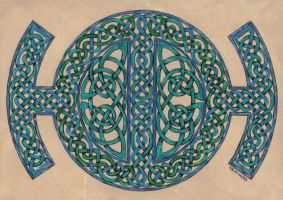 green knotwork by spookyt5