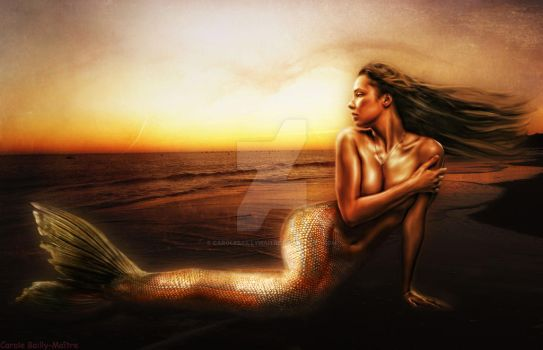 Golden-mermaid by CaroleBM