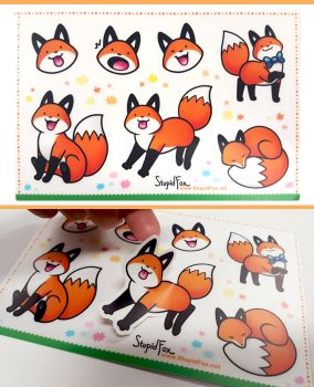 StupidFox Stickers by SilentReaper