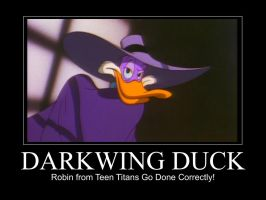 Darkwing Duck Motivation Poster by FireMaster92