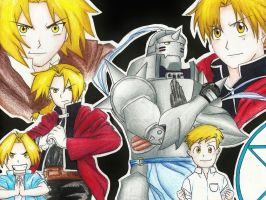 Full Metal Alchemist Part 2/2  (evolution) by Alejandrina-Uribe