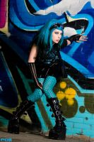 Miss Neon Turquoise II by SaphirNoir
