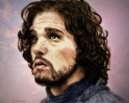 Pencil colorized: Jon Snow in Game of Thrones by shuckaby